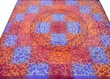 Couvre-lit indien Fait main Broderie Dessus de lit Couverture Boho Hippie Inde
