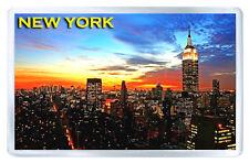 NEW YORK SUNSET MOD6 FRIDGE MAGNET SOUVENIR IMAN NEVERA