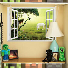 3D Grassland Horse Room Home Decor Removable Wall Stickers Decals Decoration