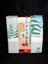 "St Nicholas Square Kohl's Christmas Shower Curtain NEW Snowmen Winter Fabric 70"""