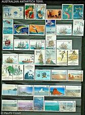 AUSTRALIAN ANTARCTIC TERR.~SMALL ESTATE COLLECTION (63) 1957-98 MNH/MLH/UNG F-VF