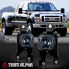Fits 2008-2010 Ford F250/F350/F450/F550[Smoke]Bumper Fog Light w/Switch+Harness
