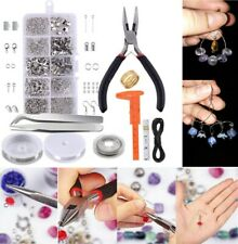 Jewelry Making Repair Kit Wire Diy Pliers Starter Tool Set Necklace Bead Thread