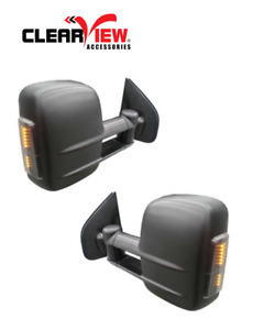 ClearView Electric Towing Mirrors Black with Indicators Toyota HiLux Fortuner