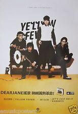 "DEAR JANE ""YELLOW FEVER"" HONG KONG PROMO POSTER - Cantonese Rock / Punk Music"