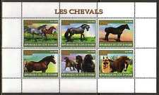 Horse German Shepherd Dogs MNH M/S of 6 stamps