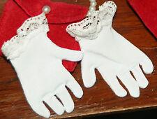 "NEW White wristlet gloves for 22"" Miss Revlon Larger Vintage Fashion Dolls"