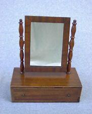 "Shaving Mirror Antique Lexington Kentucky Made Wood 1 Drawer Dressing Vanity 17"""