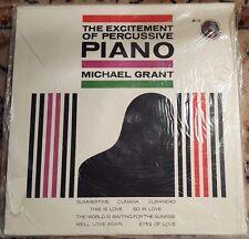 "MICHAEL GRANT ""The Excitement of Percussive Piano"" Vinyl Record LP AK-172"