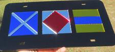 Custom Black Nautical Signal Flag Laser cut MIRROR LICENSE PLATE Boat Maritime
