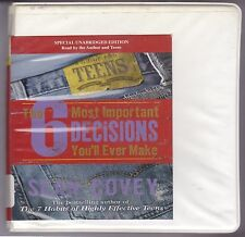 The 6 Most Important Decisions You'll Ever Make by Sean Covey (2011, CD, Unabrid