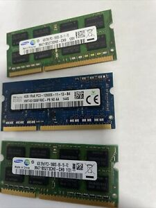 Samsung 12GB 3 Pcs 2Rx8 PC3-10600S DDR3-1333Mhz SODIMM Laptop Memory RAM 1.5V#