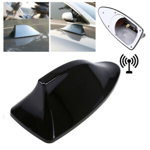 Black Car Roof Radio AM/FM Signal Aerial Shark Fin Antenna Cover For BMW Toyota