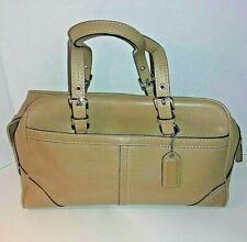 COACH HAMPTONS Tan Leather Doctor Small Satchel Shoulder Handbag Purse F11198