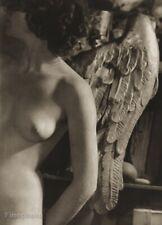 1951 Josef Sudek Female Nude Breast Angel Wings Vintage Photo Gravure Art