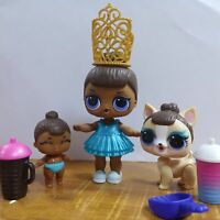 LOL Surprise Doll MISS BABY Family Big Sister & LiL Sis & Pet Glam CLUB Doll Toy