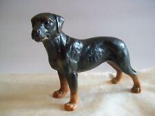 Vintage Rottweiler Dog Figurine Porcelain