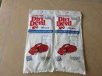 NOS Two  3pk DIRT DEVIL Royal Hand Vac Vacuum Cleaner Bags  3-010347 -001