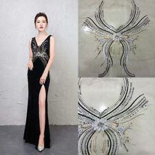 Lace Applique Motif Sequin Flower Trim Wedding Embroidery Sew Craft Neckline DIY