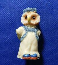 OWL WITH FLOWERS FIGURINE!   c369XDN
