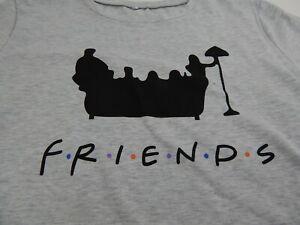 Friends Tv Show T Shirt XL Gray MINT Short Sleeve Mens