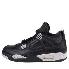 """Nike Mens Air Jordan 4 Retro LS """"Oreo"""" Black/Tech Grey 314254-003 SZ 18"""