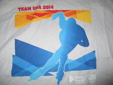 2014 SOCHI Winter XXII US OLYMPIC TEAM (XL) T-Shirt w/ Tags SPEED SKATING