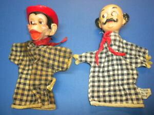 MR. STUBBS/monkey & TOYMAKER BABES IN TOYLAND WALT DISNEY HAND PUPPETS Gund lot