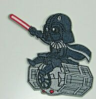 "Star Wars Darth Vader Riding A Tie Fighter 4"" x 3.5"" Embroidered Iron On Patch"