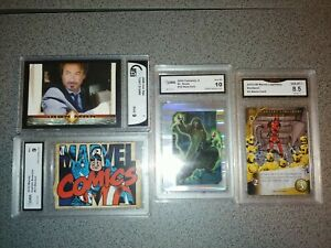 Marvel graded card lot iron man die cut deadpool legendary doctor doom GMA gai