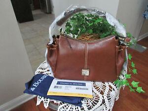 Dooney & Bourke brown Leather Aqua large Hobo shoulder handbag-NWT & DUST COVER