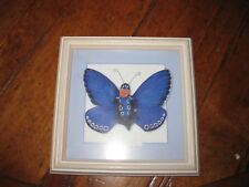 Anne-Geddes butterfly babie purple fremed picture 7x7""