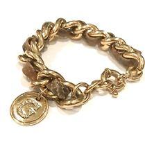 Guess Damen-Armband Metalllegierung gold Leder Zirkonia, UBB71230