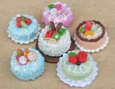 1:12 Scale Single Hand Made Round Cake Tumdee Dolls House Kitchen Bakery