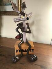 Rare Warner Bros Wile E Coyote Dynamite Statue  Neck repaired