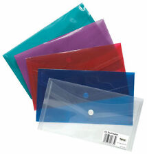 Tiger DL (envelope) Plastic Stud Document Wallet Folders Small Size File Storage