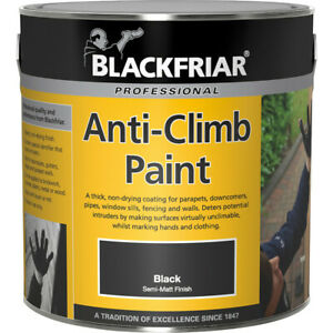 Blackfriar Anti Climb and Anti Vandal Paint Black - 1 Litre