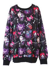 TY-YS-1010 Schwarz Lolita Schleife Spinne Geist Goth Sweatshirt Pullover Kawaii