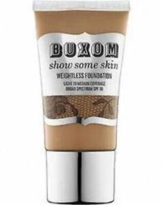 "bareMinerals Buxom Weightless Foundation ""Almond The Nude"" SPF 30 1.5 FL OZ& 🎁!"