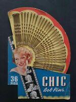 Vintage 1930/40's Chic Bob Pins Bobby Pins New Old Stock Blonde Roberta