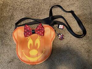 Harveys Disney Minnie Mouse Pumpkin Halloween Crossbody Bag Purse
