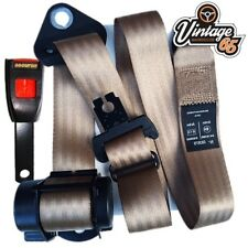 Vw Transporter Camper T3 3 Point Front Automatic Inertia Seat Lap Belt Kit Brown