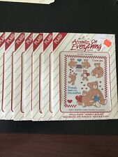 9 Plaid Accents Everything Rub-On Paint Transfers Designs Bear Chatter No. 57017