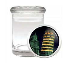 Famous Landmarks D8 ODORLESS AIR TIGHT MEDICAL GLASS JAR Leaning Tower of Pisa