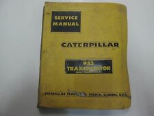 Caterpillar 933 Traxcavator 42A1-UP Service Repair Shop Manual BINDER STAINED