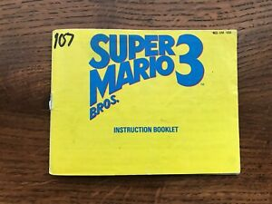 Super Mario Bros 3 Brothers III NES Nintendo Instruction Manual Only