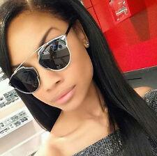 So Real Black Silver Sunglasses Men Women Designer Retro Vintage Fashion
