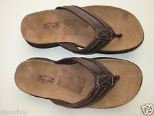 Omega C4083M Suede leather Flip Flops Men' Sandals Brown 7M