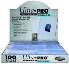 Ultra Pro Feuilles classeur Silver Series - 9 Pocket par page Boite 100 feuilles