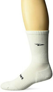 Defeet DEVCRWT201 D-Evo Crew Solid Socks, Medium, White/Black D-Logo